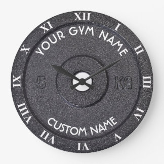 Gym Owner or User With Curved Text Funny Large Clock