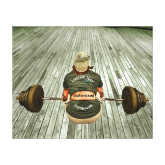 Gym Owner Weight Training Workout With Your Name Canvas Print