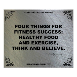 Gym Poster for Fitness Motivation #010
