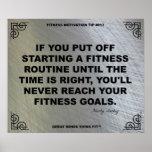 Gym Poster for Fitness Motivation #013