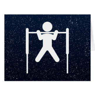 Gym Pullups Sign Large Greeting Card