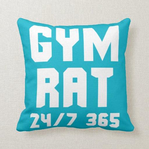 Gym rat 24 7 365 bodybuilding pillow zazzle for Fitness 24 7 mobilia