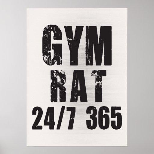 Gym Rat 24 7 365 Bodybuilding Poster Zazzle