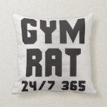 Gym Rat - 24/7 365 - Bodybuilding Throw Pillow