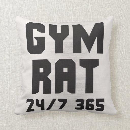 Gym Rat 24 7 365 Bodybuilding Throw Pillow Zazzle