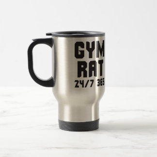 Gym Rat - 24/7 365 - Bodybuilding Travel Mug