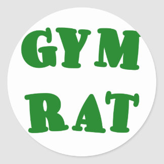 Gym Rat Classic Round Sticker