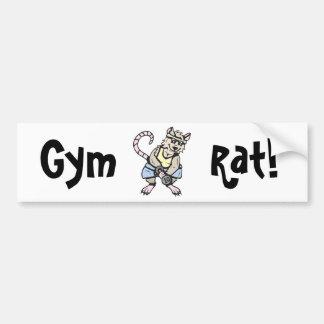 Gym rat!  Customizable! Car Bumper Sticker