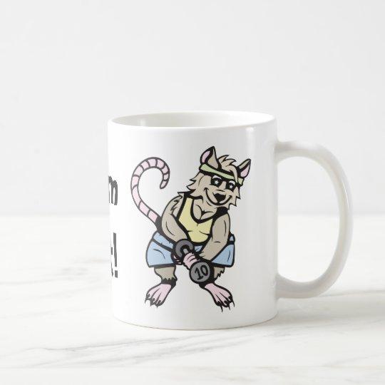 Gym rat!  Customizable! Coffee Mug