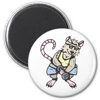 Gym rat!  Customizable! 2 Inch Round Magnet