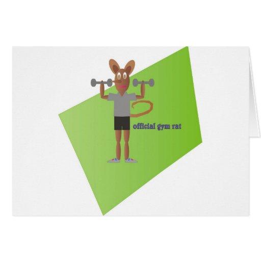 Gym Rat Greeting Card