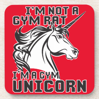 Gym Rat - Gym Unicorn - Bodybuilding Humor Coaster