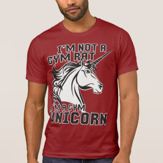 Gym Rat - Gym Unicorn - Bodybuilding Humor T-Shirt