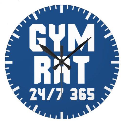 gym rat motivational fitness gym wall clocks zazzle