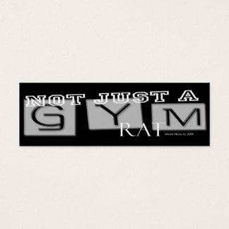 Gym Rat - Social Media Personal Card