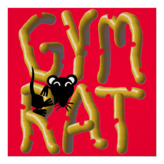 Gym Rat Weightlifting Poster