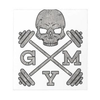 Gym Skeleton Poster Sport Fitness Notepad