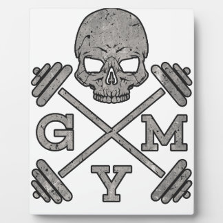Gym Skeleton Poster Sport Fitness Plaque