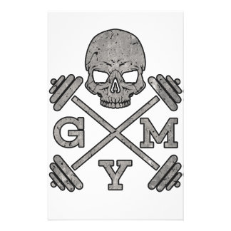 Gym Skeleton Poster Sport Fitness Stationery