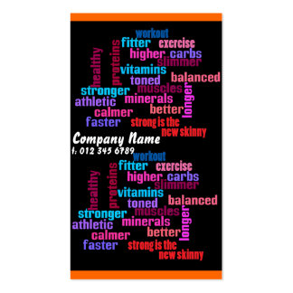 gym, sports club or trainer  business card