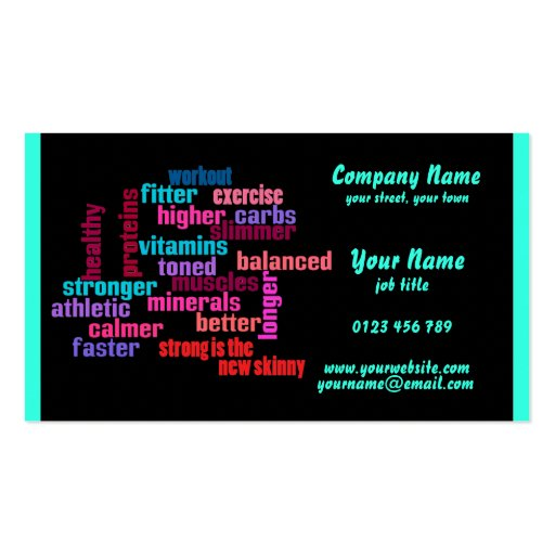 gym, sports club or trainer  business card 2
