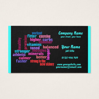gym, sports club or trainer  business card 2