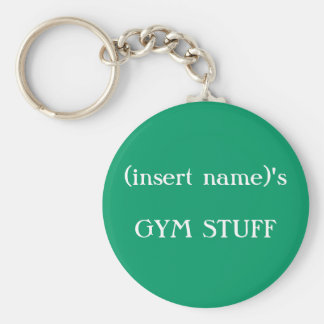 GYM STUFF identification - keychain