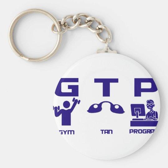 Gym Tan Program Keychain