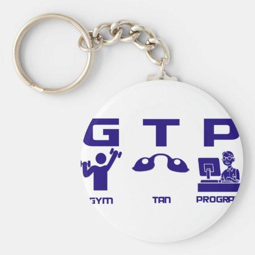 Gym Tan Program Keychains