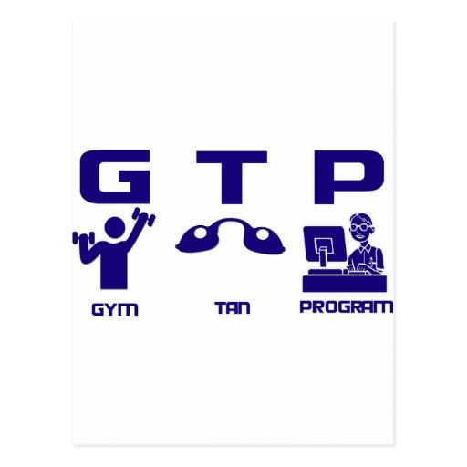 Gym Tan Program Post Cards