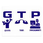 Gym Tan Program Postcards