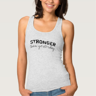 Gym Tank Top - Stronger Than Yesterday