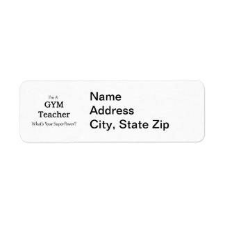 Gym Teacher Label