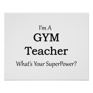 Gym Teacher Poster