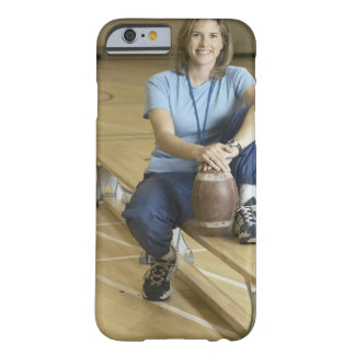 Gym teacher sitting on bench in gym barely there iPhone 6 case