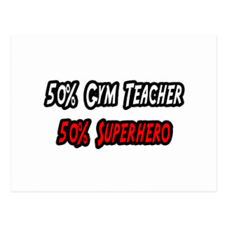 Gym Teacher Superhero Postcard