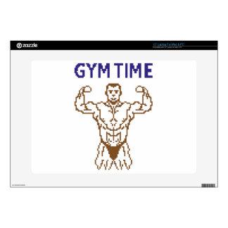 """gym time pixelart 15"""" laptop decals"""