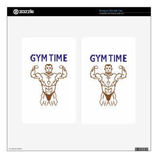 gym time pixelart decal for kindle fire