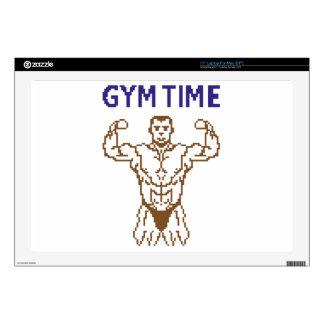 "gym time pixelart skins for 17"" laptops"
