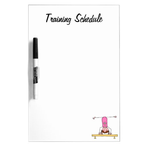 Dry Erase Calendar Canada : Gym training schedule dry erase board zazzle