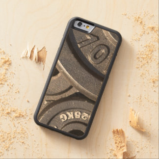 Gym Weights Carved Maple iPhone 6 Bumper Case