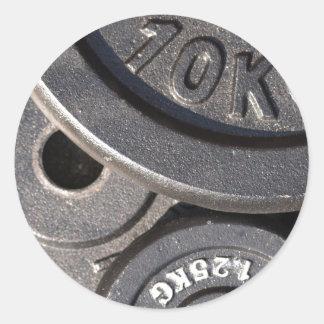 Gym Weights Classic Round Sticker