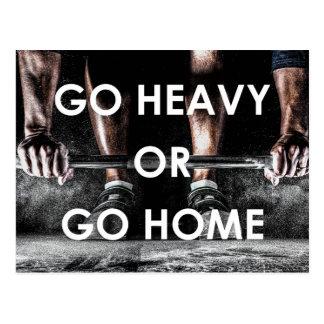 Gym Weights Training Fitness Motivational Postcard
