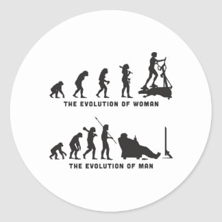 Gym Workout Classic Round Sticker