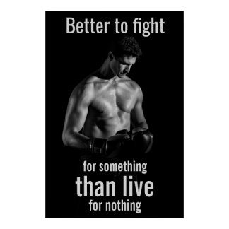 Gym Workout | Motivational Boxer Quote Poster