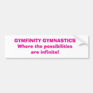 GYMFINITY GYMNASTICSWhere las posibilidades son… Pegatina De Parachoque