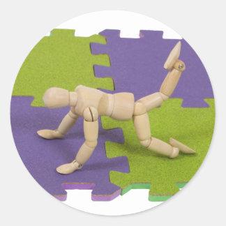 GymMatStretch112809 copy Classic Round Sticker