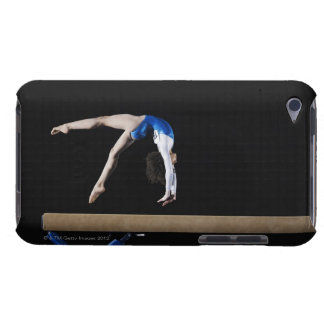 Gymnast (9-10) flipping on balance beam, side barely there iPod covers