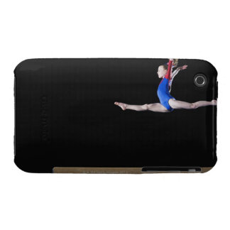Gymnast (9-10) leaping on balance beam 2 iPhone 3 Case-Mate case
