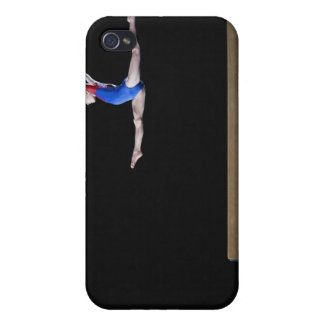 Gymnast (9-10) leaping on balance beam 2 iPhone 4/4S covers
